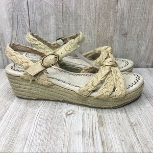 Sketchers Natural Rope Low Wedge Espadrille Sandal